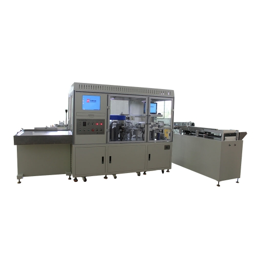 Four-lead capacitor laser marking whole foot cutting machine